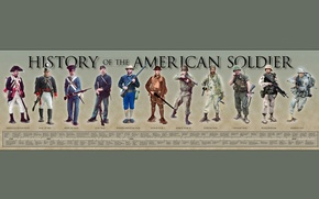Picture weapons, war, form, soldier, equipment, men, American, History