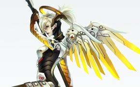 Picture angel, blizzard, art, overwatch, mercy