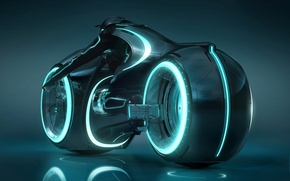 Wallpaper neon, light cycle, tron legacy