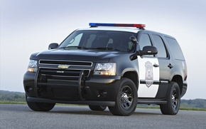 Picture police, Chevrolet, jeep, SUV, Chevrolet, police, the front, spec.version, Tahoe, PPV, Tahoe