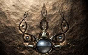 Wallpaper circles, symbol, line, abstraction