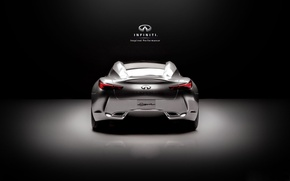 Picture Minimalism, Infinity, Logo, Car, Supercar, Supercar, Black Style