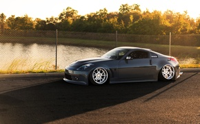 Picture car, pond, tuning, nissan 350z