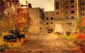 Picture autumn, Pripyat, Ghost town