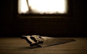 Picture light, creative, steel, teeth, window, day, handle, floor, instrumento, saw, sharp, macro iron, saw, teeth, …