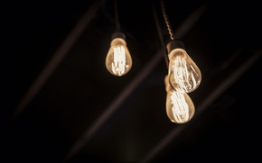 Picture light, minimalism, light bulb