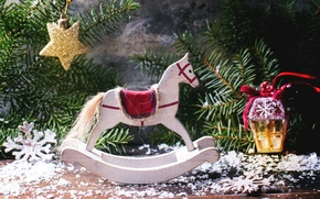 Picture toy, spruce, New Year, Christmas, decoration, Christmas, New Year, decor, Xmas, horse, Merry, Natasha Breen