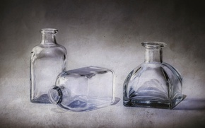 Picture glass, bottle, still life, decanter