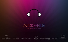 Picture music, brands, audiophile