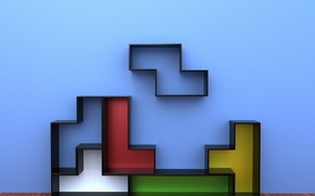 Picture colors, furniture, decorative, Tetris