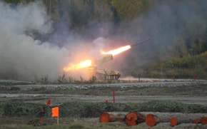 Picture Russia, Tank, THE ARMED FORCES, Pinocchio, Heavy Flamethrower System, TOS-1A