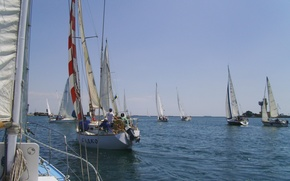 Picture sea, water, Yachts, the ship, sports, sailboats, the competition, sailing