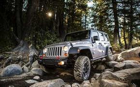 Picture stones, Auto, Jeep, SUV, Wrangler, Jeep, The front, The roads, Rubic, Unlim