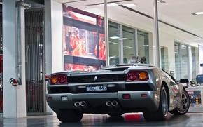 Picture silver, Lamborghini, silver, diablo, Lamborghini, back, Diablo