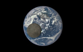 Picture space, earth, the moon