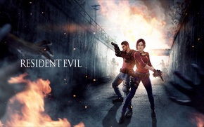 Picture girl, male, Resident Evil, fan art, capcom, Chris Redfield, Claire Redfield
