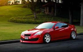 Picture car, auto, red, tuning, hq Wallpapers, Hyundai Genesis