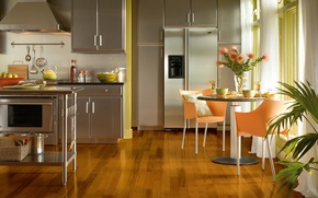 Picture design, house, style, Villa, interior, kitchen, living room