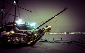 Picture water, ship, restaurant, the Hermitage, Petrogradka, the flying Dutchman