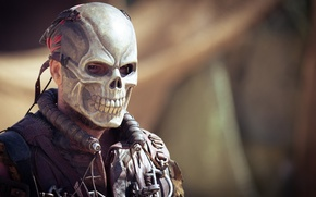 Picture background, skull, mask, male