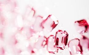 Picture glass, macro, rhinestones, white background, texture, bokeh, Wallpaper from lolita777, cut
