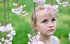 Wallpaper mood, garden, girl