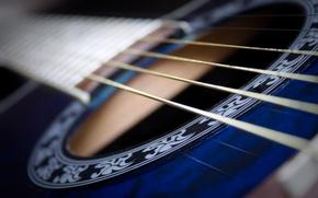 Wallpaper macro, music, background, guitar