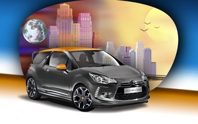 Wallpaper background, Citroen, Citroen, DS 3