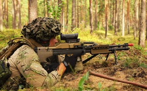 Picture weapons, soldiers, Danish Army