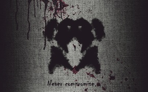 Picture movie, blood, Keepers, Watchmen, Rorschach, photoshop, Rorschach, compromise
