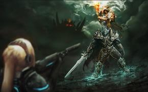 Picture Armor, Swords, Arthas, Diablo, Terra Nova, StarCraft, Heroes of the Storm, Game Fiction