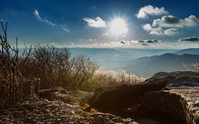 Picture landscape, mountains, morning