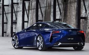 Picture blue, concept, the concept, lexus, rear view, blue, Lexus, LF-LTS, LF-LC