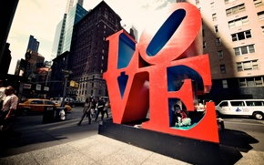 Picture city, USA, New York, LOVE