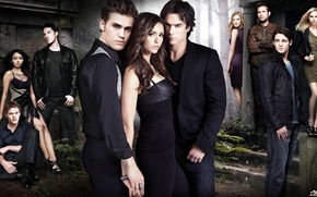 Wallpaper all the characters, Season 2, the vampire diaries