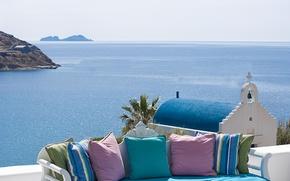 Picture sea, summer, the sky, landscape, nature, Greece