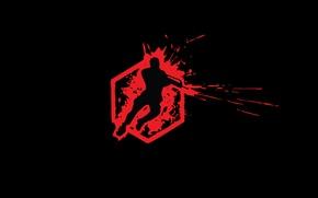 Picture blood, minimalism, logo, Crysis, Wars