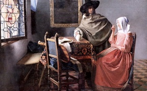 Picture picture, Johannes Vermeer, Glass of wine