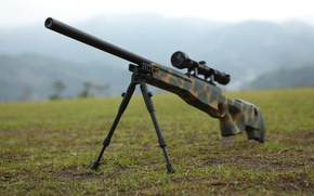 Picture weapons, optics, rifle, sniper, awp, bipod, awm, Arctic Warfare Magnum, camouflage color