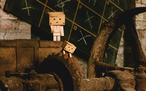 Wallpaper danbo, dust, rust, robot