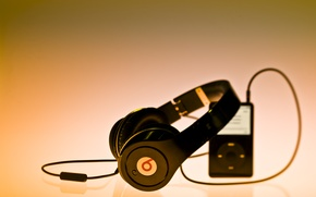 Picture music, music, headphones, player, brand, by dr. dre, Beats, and under