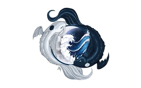 Picture water, fish, Avatar, Avatar, Yin-Yang, The Legend of Korra, Avatar: the Legend of Korr.