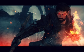 Picture look, fire, MAG, male, rpg, Dragon Age, Hawke