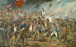 Picture art, battle, Mort Kunstler, The war for the Independence of the United States