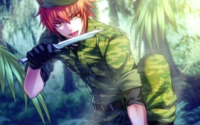 Picture language, red, knife, form, camouflage, art, wand of fortune, visual novel, kagerou usuba, lagi el …