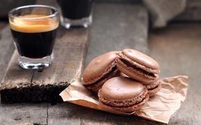 Picture coffee, cookies, sweets, cake, brown, dessert, sweet, macaron, macaron