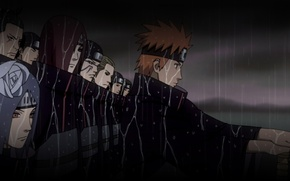 Picture night, Naruto, the shower, squad, ninja, Akatsuki, Yahiko, Nagato, Konon