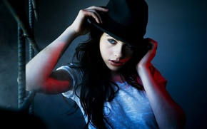 Wallpaper hat, actress, photoshoot, Michelle Trachtenberg