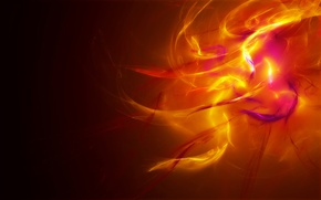 Wallpaper light, orange, yellow, abstraction, fire, color, Krasny
