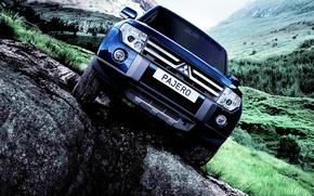 Picture Auto, Mountains, Mitsubishi, Pajero, Avto